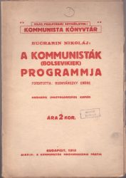 A kommunisták (bolsevikiek) programmja