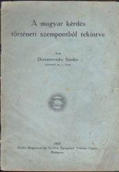 A magyar kérdés történeti szempontból tekintve