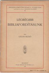 Legrégibb bibliafordításunk