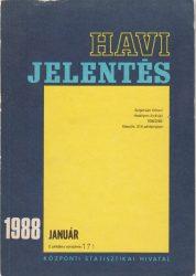 Központi Statisztikai Hivatal - 1988 január havi jelentés