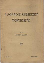 A soproni színészet története