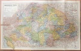 Magyarország térképe a trianoni határok feltüntetésével