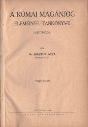 A római magánjog elemeinek tankönyve