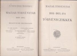 Magyar Törvénytár. 1894-1895. évi törvényczikkek