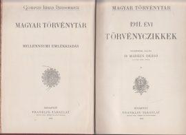 Magyar Törvénytár. 1911. évi törvényczikkek