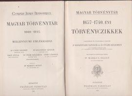 Magyar Törvénytár. 1657-1740. évi törvényczikkek