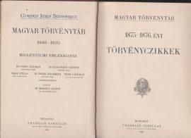Magyar Törvénytár. 1875-1876. évi törvényczikkek