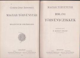 Magyar Törvénytár. 1896. évi törvényczikkek