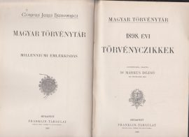 Magyar Törvénytár. 1898. évi törvényczikkek