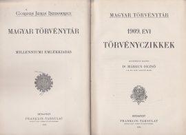 Magyar Törvénytár. 1909. évi törvényczikkek