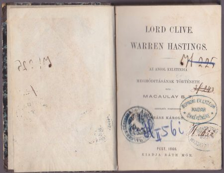 Lord Clive. Warren Hastings