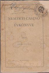 A Nemzeti Casino szabályai és tagjainak névsora 1926