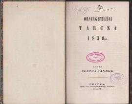 Országgyűlési tárcza 1830-ról