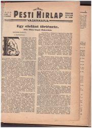 Pesti Hírlap Vasárnapja 1929 - második félév