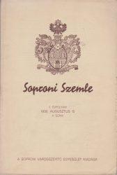 Soproni Szemle  1938. augusztus 15. 4. szám