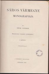 Sáros vármegye monográfiája. I. kötet