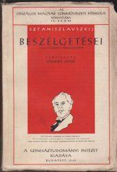 Sztaniszlavszkij beszélgetései a Nagy Színház sziniiskolájában