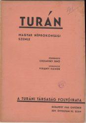 Turán 1942 október. XXV. évfolyam III. szám